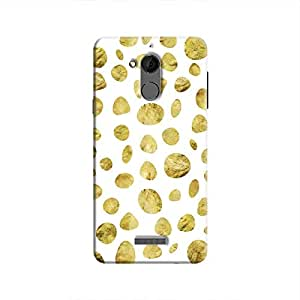 Cover It Up - White Pale Gold Pebbles Coolpad Note 5 Hard case