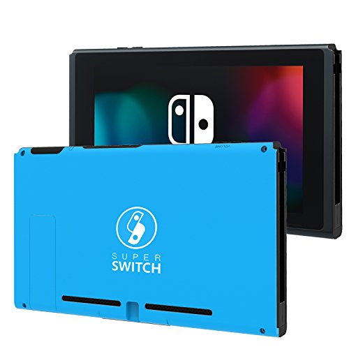 BASSTOP Portable DIY Replacement Housing Shell Case for Switch NS NX Console without Electronics (Blue)