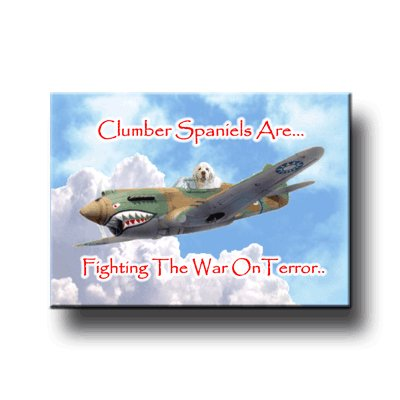 Clumber Spaniel War On Terror Fridge Magnet