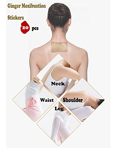 iLOVEPandas Natural Wormwood Stickers Chinese Traditional Moxibustion Health Paste Pain Relief Self-Heating Moxa Pads (Style 2,20pcs) by iLOVEPandas (Image #4)
