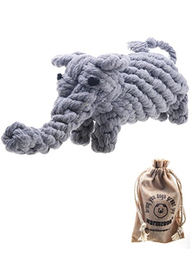 Pet Puppy Dog Cotton Rope Chew Toys for Teeth Cleaning, Elephant Design by Warmzone
