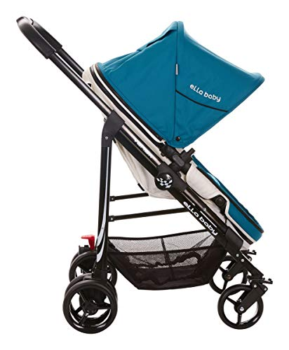 2018 Ella Baby Versa Luxury All in 1 Infant Baby Stroller Toddler Pushchair Baby Pram with Carriage Bassinet and Stair Climbing Combo (Pushchairs Compatible With Maxi Cosi Car Seat)