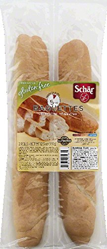 Schar Baquettes Gluten Free, 12.3-Ounces (Pack of 6) by Schar