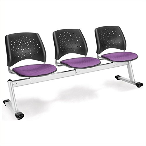 - Bowery Hill 3 Beam Seating with Seats in Plum