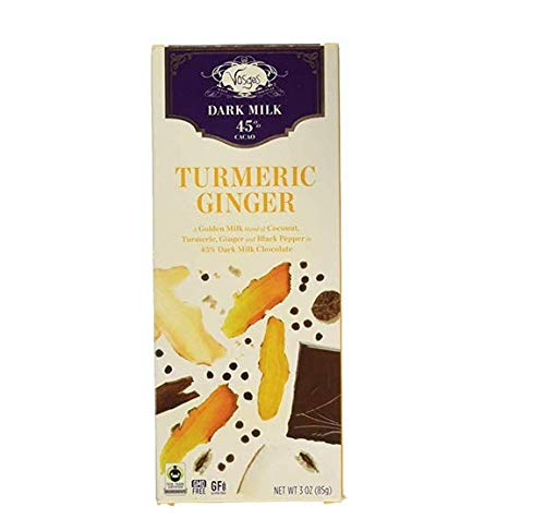 Vosges Haut-Chocolat Turmeric Ginger Chocolate, 3 oz (pack of 4)