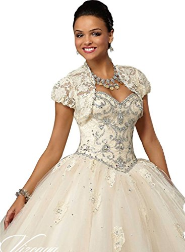 Quinceanera ANGELA Jacket Blue Women's Prom Beads Sky Long Gown Lace Ball Dress q70rf4n7F