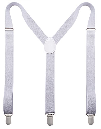 Man of Men - Men's Fashion Suspenders - The Glitter Collection (Silver) -