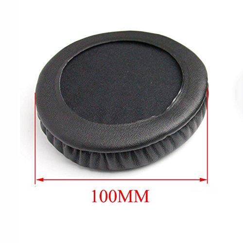 1 Pair 100MM Ear Pad Replacement Ear Pads Cushion for Beyerdynamic DT440 DT660 DT770 DT860 DT880 DT990 Headphones (Black)