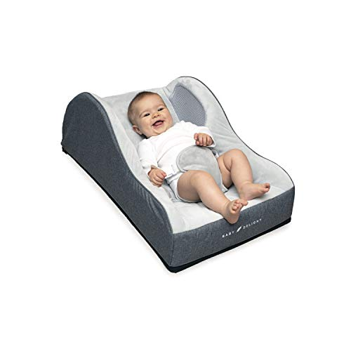 Baby Delight Comfort Nook Plush Infant Napper | Grey | Comfortable and Safer Place for Your Baby to Nap and Lounge | Breathable Side Walls | Portable | Cover is Machine Washable