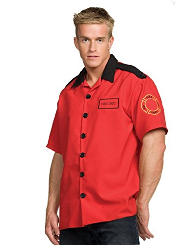 Fireman Shirt Costume - One Size - Chest Size 42-46