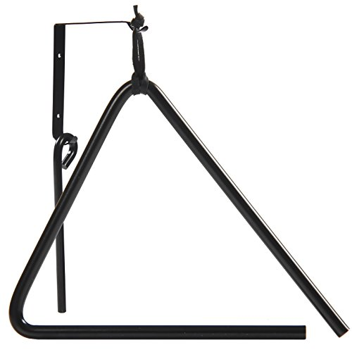 Triangle Dinner Bell made of Chuckwagon Cast Iron - Includes Medal Hanger and Call Striker by Backyard Accessories