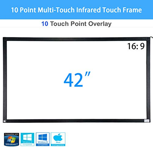 Multi Touch Interface - PIE 42 inch 10 Point Multi-Touch Infrared Touch Frame, IR Touch Panel 16: 9, Infrared Touch Screen Overlay with USB Interface for LCD/LED TV Display, Presentation, Kiosk, Exhibitions, Whiteboard