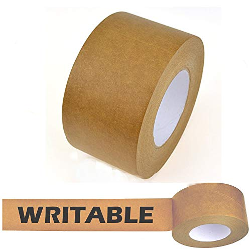 Star Brand Writable Kraft Flatback Paper Tape Covering up Writing and Markings on Reused Boxes | Ultra-Sticky Kraft Packaging Tape Sealing Cartons (3 Inch x 60 Yards, Kraft) ...