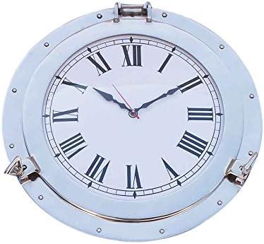 Reloj de ojo de buey decorativo de cromo 17 - Relojes decorativos - Reloj de pared antiguo