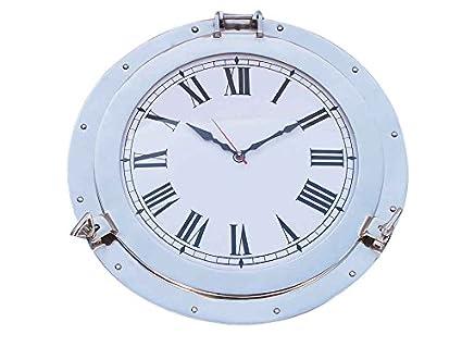 Reloj de ojo de buey decorativo de cromo 17 - Relojes decorativos - Reloj de pared