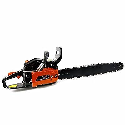 "52cc 22"" Gasoline Chainsaw Cutting Wood Gas Chain Saw Aluminum Crankcase"
