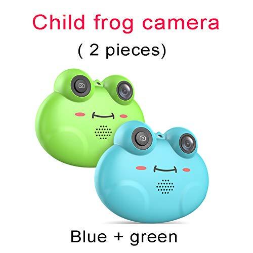 Mini 1,54 pulgadas IPS pantalla niños infantiles rana cámara digital, 1080P HD mini grabadora de vídeo digital...