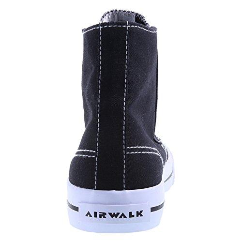 Airwalk Femmes Legacee Haut-haut Noir Blanc Toile