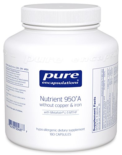 Pure Encapsulations - Nutrient 950 A Without Copper & Iron - Hypoallergenic Multi-vitamin/Mineral Formula for Optimal Health* -