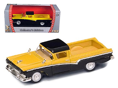 Road Signature 94215 Scale 1:43 1957 Ford Ranchero Vehicle, Yellow