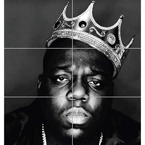 Doppelganger33 LTD Notorious B I G Biggie Hip Hop Rapper Legend Black White King Crown Wall Art Multi Panel Poster Print 32×35 inches