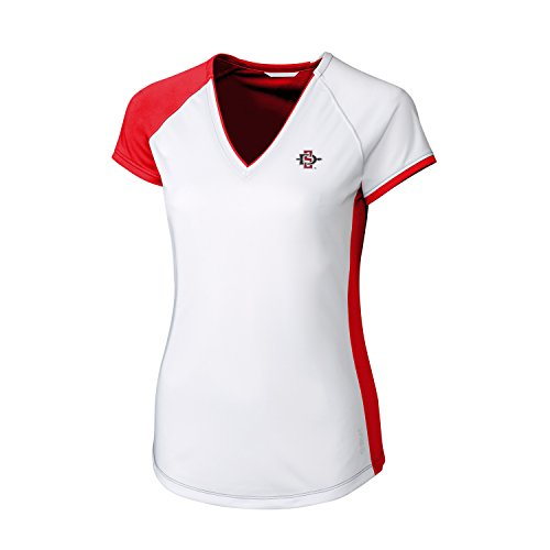 Womens Diego (NCAA San Diego State Aztecs Women's Short Sleeve Presley V-Neck Tee, XX-Large, Red)
