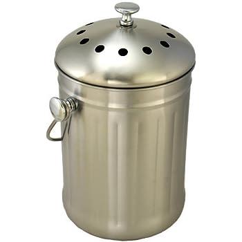 Amazon.com: InterDesign Basic para compost con carbón ...
