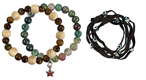 Zorbitz Inc. Bundle of 2 Karma Beads Bracelets Believed to Deliver Protection and Unexpected Miracles. Included 36