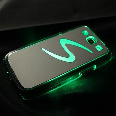 Avcibase 4260310646206 LED Licht Bumper Schutzhülle für Samsung Galaxy S3 i9300 pink