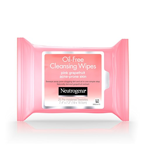 Neutrogena Oil-Free Cleansing Wipes, Pink Grapefruit, 25 Count (Pack of 6) by Neutrogena