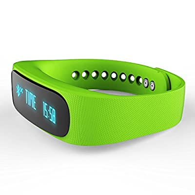 Forestfish(TM) Bluetooth Sync Smart Bracelet Sports Fitness Tracker Smart Wristband Water Resistant Tracker Bracelet Sleep Monitoring Anti-lost Smart Watch (Light Green)
