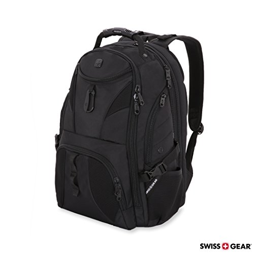 SWISSGEAR Travel Gear 1900 Scansmart TSA Laptop Backpack Black/Black by Swiss Gear