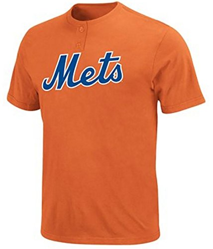 Majestic MLB New York Mets Two Button Youth Jersey Shirt XL
