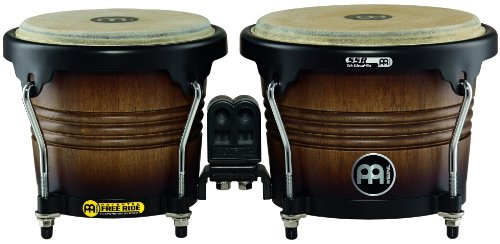 Meinl Percussion FWB190ATB-M Free Ride Series Wood Bongos, Antique Tobacco Burst Finish by Meinl Percussion