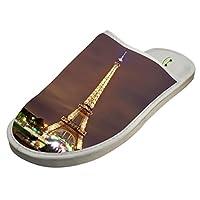 4B854DF6B Cotton Eiffel Tower with Light House Slippers Baboosh Chinela Slipper