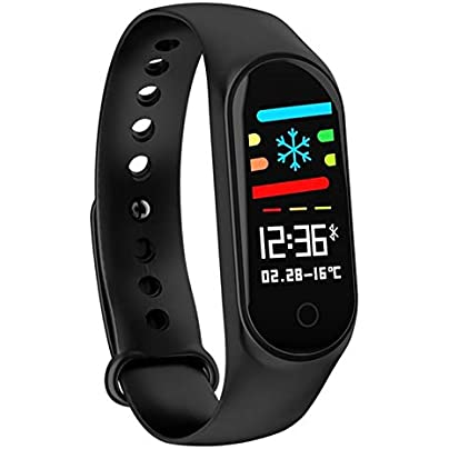 JVSISM M3S Smart Band Bracelet Heart Rate Monitor Smartband Health Fitness Tracker Smart Pedometer Wristband for Android IOS Estimated Price £8.48 -