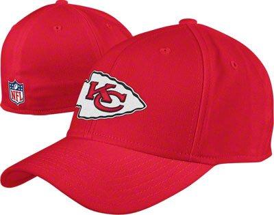 Reebok Kansas City Chiefs Hat Flex Sideline Slouch Cap (Small/Medium)