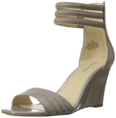 Nine West Women's Floriscine Dress Sandal,Taupe Multi,7.5 M US