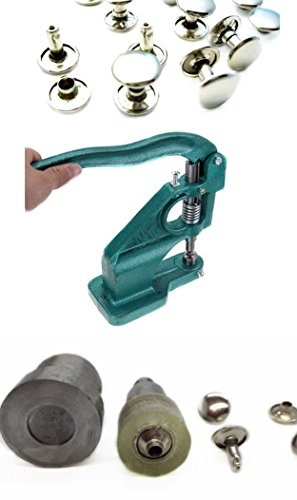 Trimming Shop Hand Press Machine And Two Piece Double Cap Rivet Green 10Mm