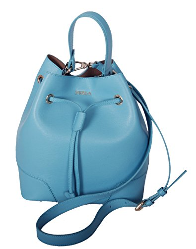 Furla Stacy S Drawstring crossbody bag in Turquoise by Furla