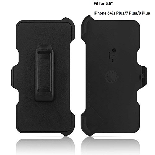 2 Pack Generic Replacement Holster Belt Clip for Apple iPhone 6 Plus/ 6S Plus/ 7 Plus/ 8 Plus Otterbox Defender Case(Only 5.5
