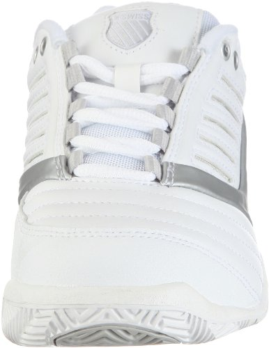 White Wei Womens SURPASS Swiss White Tennis Silver 40 Shoes K Size w5XY6qgnw
