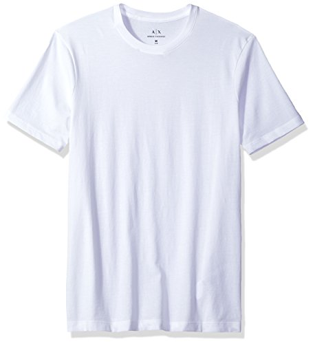 A|X Armani Exchange Men's Solid Colored Basic Pima Crew Neck, White, X-Large ()