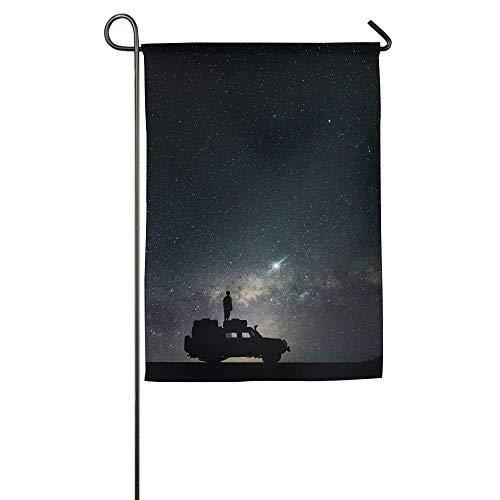 HUVATT Stars Sky Space Garden Flag Indoor & Outdoor Decorative Flags for Parade Sports Game Family Party Wall Banner 28 x 40 inch