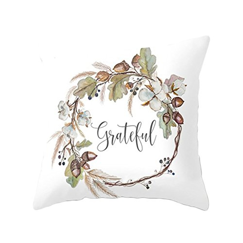 attrasfjwanrw Cushion Cover Pillow Case Watercolor Pumpkin Pattern Sofa Decor Halloween Thanksgiving Day Gift 4# -