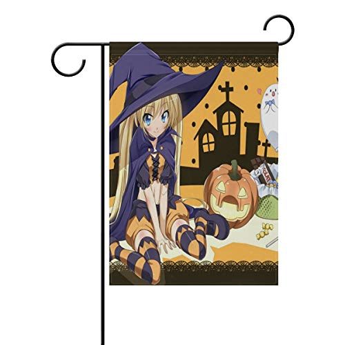 Pingshoes Cool Anime Halloween Wallpaper Garden Flag Outdoor Banner Decorative Large House Polyester Flags for Wedding Party Yard Home Decor Season Porch Lawn 12