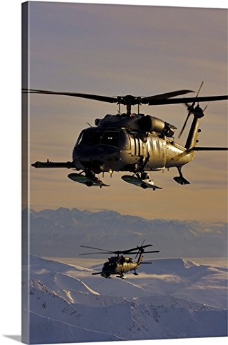 Alaska Air National Guard (greatBIGcanvas Gallery-Wrapped Canvas entitled Two Alaska Air National Guard HH-60G Pave Hawks in flight over Alaska by Stocktrek Images 16