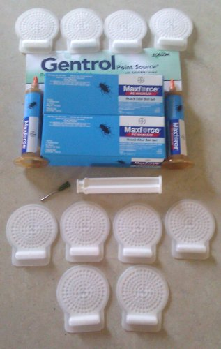 Cockroach German Roach Professional Pest Control Kit ~~ 2 Tubes Maxforce Magnum Roach Bait 33 grams per tube & 10 Gentrol Point Source IGR Insect Growth Regulator Discs KIT1041 Magnum Regulator