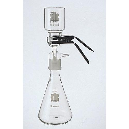 Kimble 953845-0000 All Glass Microfiltration Apparatus with Fritted Glass Support, 47mm Filter Size, 1000ml Funnel Capacity, 4000ml Flask Capacity