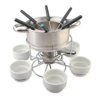 My perfect kitchen 17 pc stainless steel lazy susan fondue for Perfect kitchen stainless